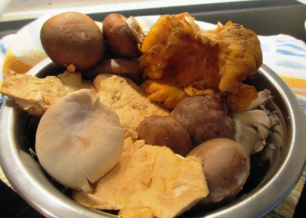 Bospaddenstoelensoep met cognac en room