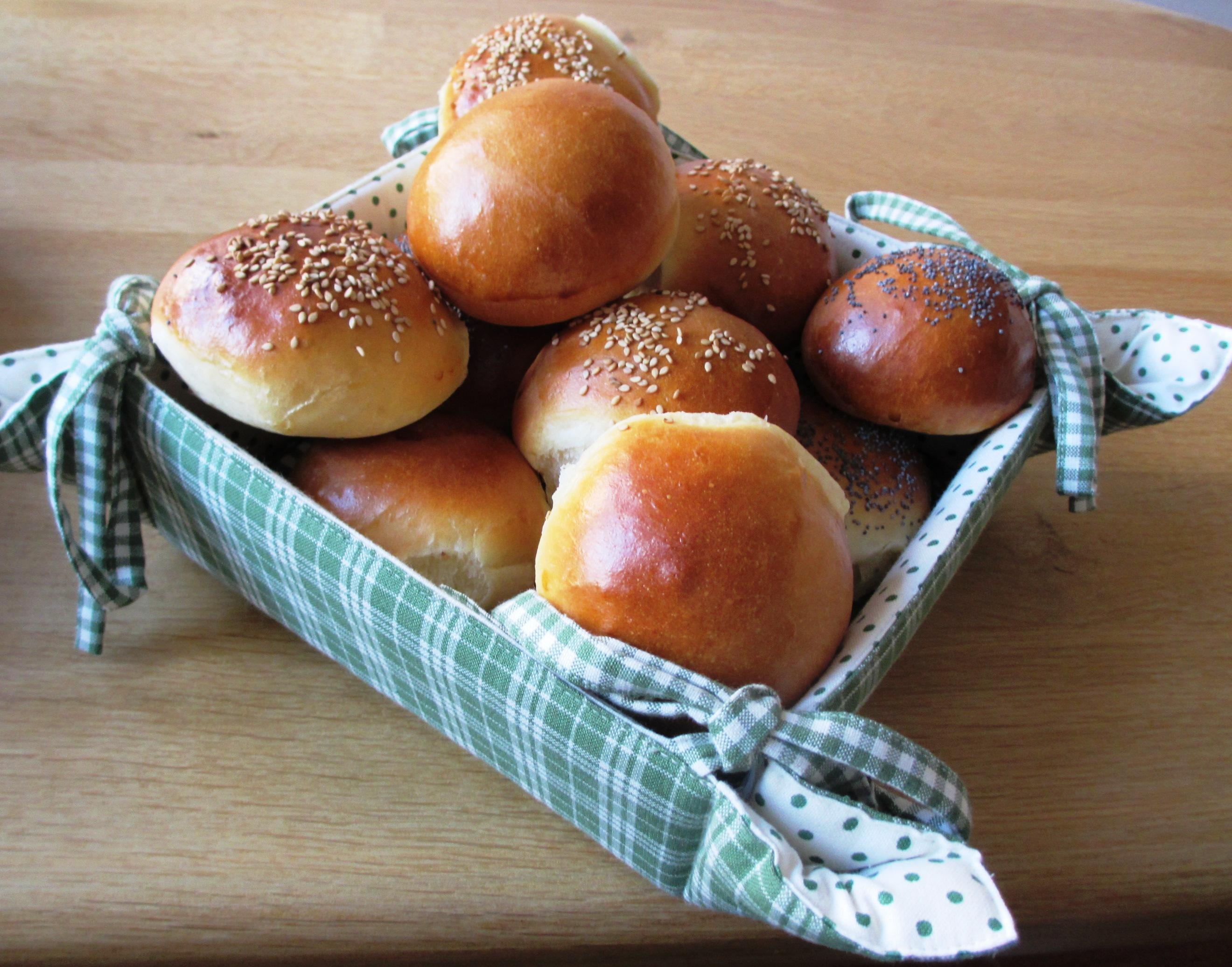 Broodmand zachte witte broodjes van Levine