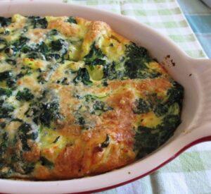 Tian met spinazie en kaas