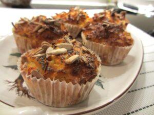 Muffins van zoete aardappel