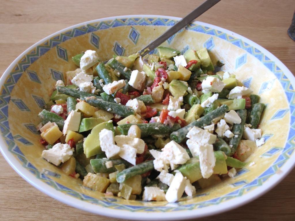 Aardappelsalade met boontjes