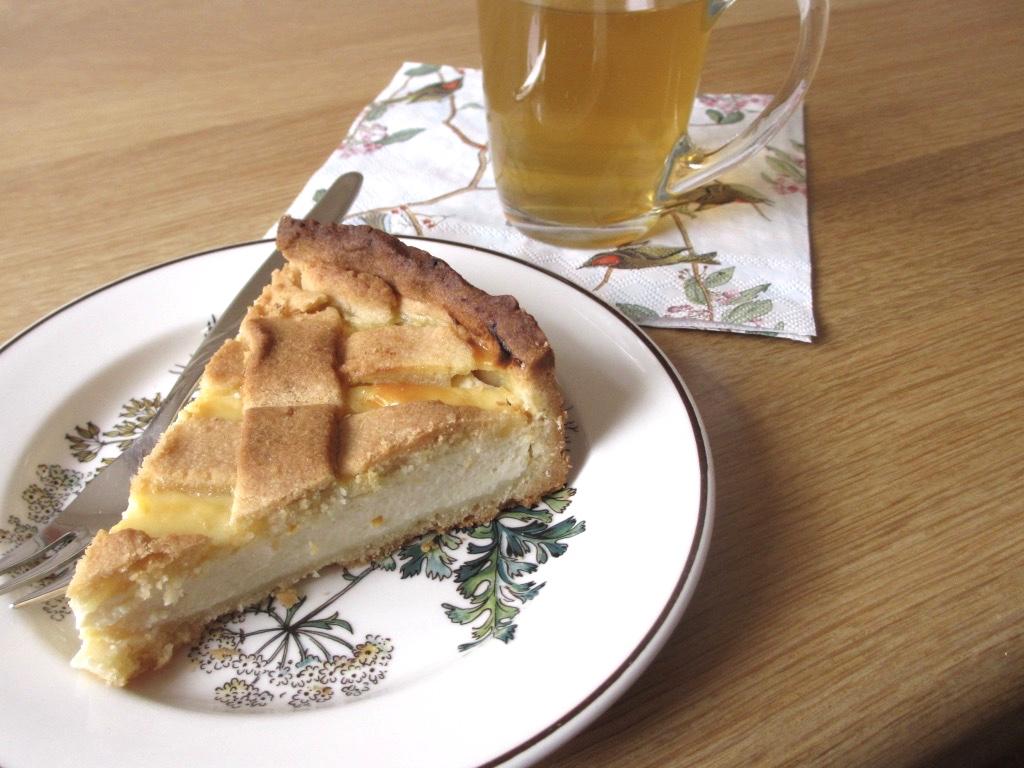Italiaanse crostata van ricotta en marsala