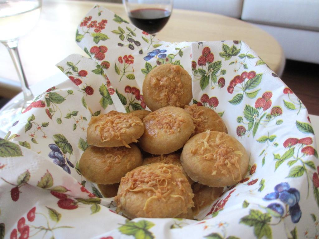 Hartige koekjes met manchego en tijm