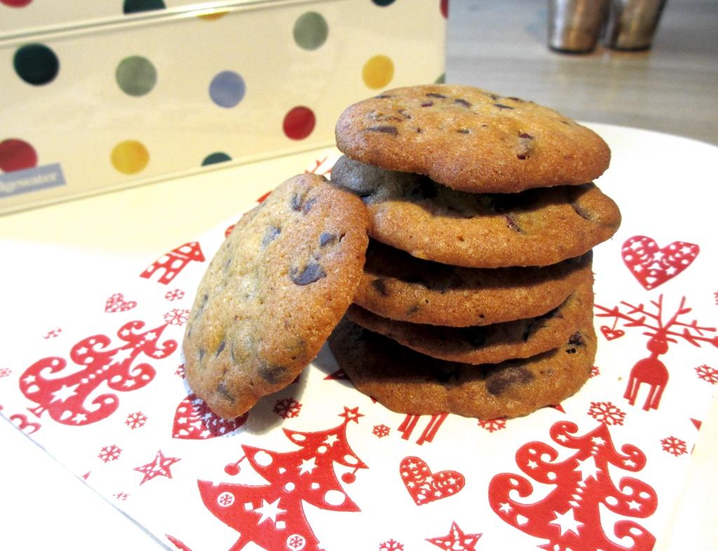Cranberrycookies met chocolade